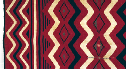 Detail from a Navajo serape. David Heald photo, courtesy the National Museum of the American Indian.