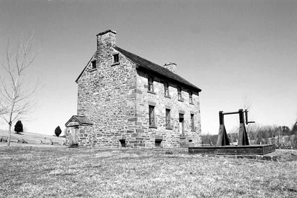 The stone house at the Manassas National Battlefield Park. National Park Service Photo from the NPS web site, http://www.www.nps.gov/mana/media/publish.