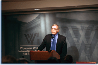 "Eric Foner at the NHC Washington History seminar on ""The Significance of Lincoln's Emancipation Proclamation for America.""  Photographer: Allison Lyalikov."
