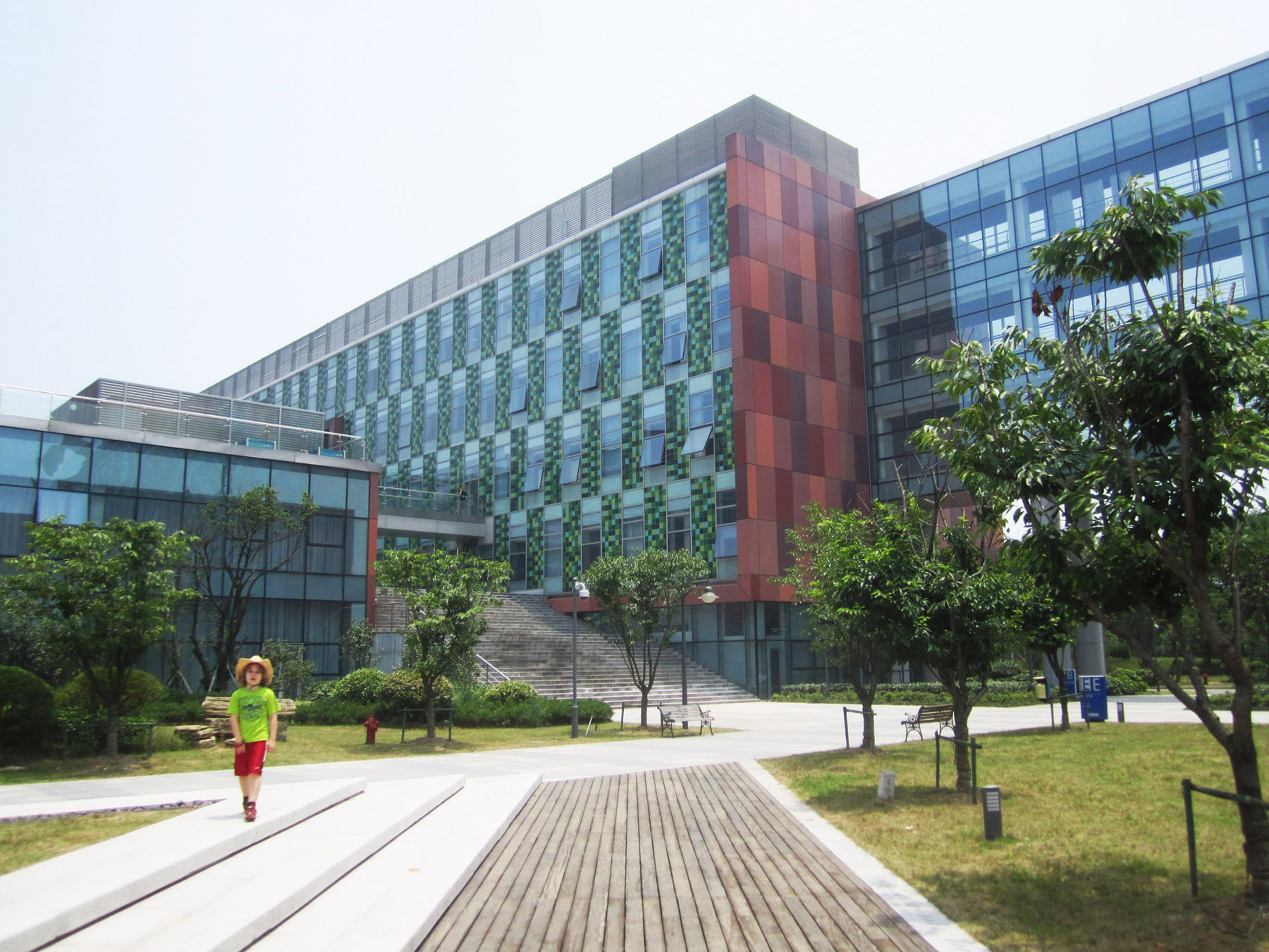 Photo by Bill Sewell. <p> The campus of XJTLU in Suzhou, including seven-year-old Ben.