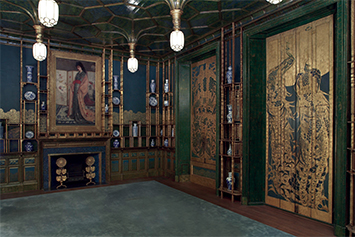 Photo courtesy the Freer Gallery of Art and Arthur M. Sackler Gallery.  One of the most popular exhibits in the Freer Gallery of Art is the Peacock Room painted by James McNeill Whistler.