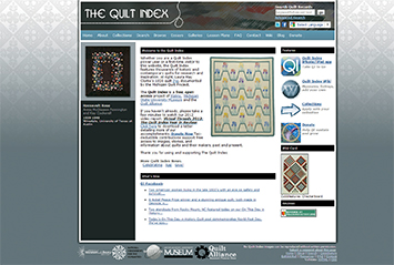 The Quilt Index has received major grants from the Institute of Museum and Library Services and the National Endowment for the Humanities and in-­kind support from Michigan State University for the research and initial development phases. Additional grant support for expanding content and developing user tools has been provided by a number of private and public contributors.