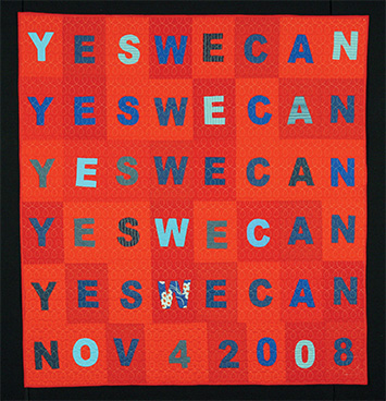 Yes We Can, by Denyse Schmidt, 2008, collection of the Michigan State University Museum.