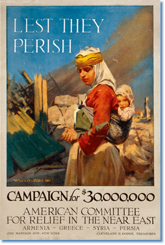 Campaign poster for refugee relief, c.1917, W.B. King, Conwell Graphic Companies, NY. Library of Congress Prints and Photographs Division, Washington DC.