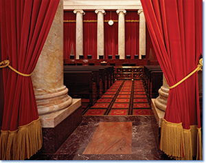 Photo credit: Interior of the U.S. Supreme Court, Photographs in the Carol M. Highsmith Archive, Library of Congress, Prints and Photographs Division.