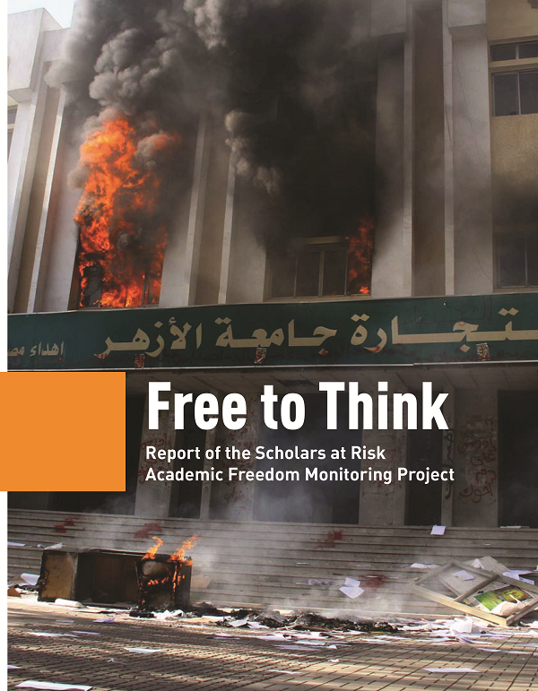 An image of the cover of the Scholars at Risk report
