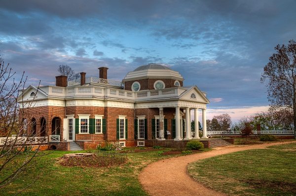 Thomas Jefferson's Monticello. Credit: Bob Mical. CC BY-NC 2.0.