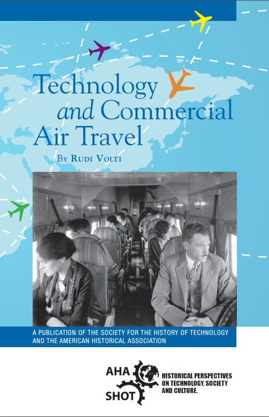 "Cover of pamphlet ""Technology and Commercial Air Travel"""