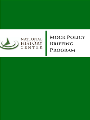 Mock Policy Briefing Program cover