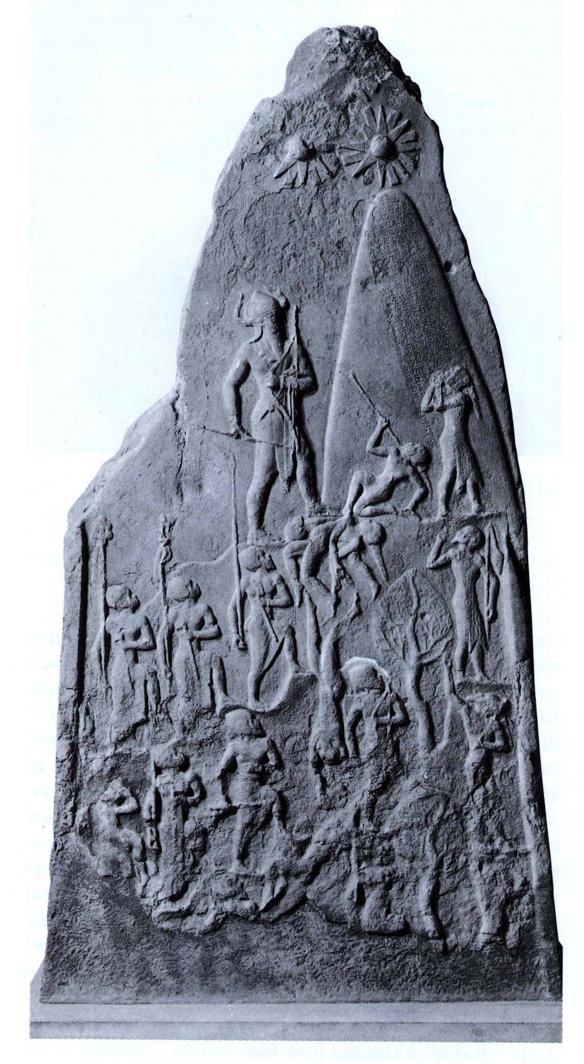 victory stele of naram sin Akkadian, c 2200 bc c 6' 7 tall background: a stele is a monument composed of a single column or shaft typically erected to commemorate an important event or person.