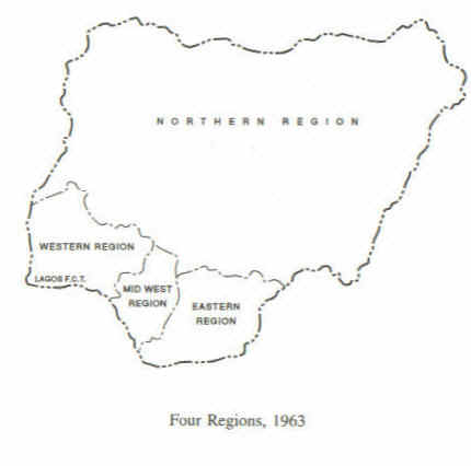 Nigeria four regions at the time of independence aha four regions of nigeria ccuart Choice Image