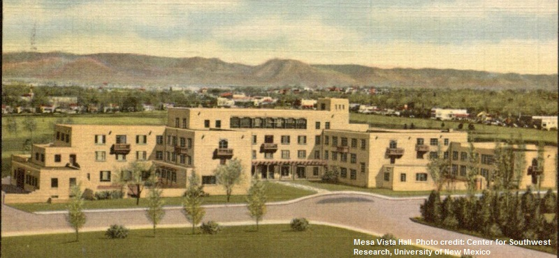 Mesa Vista Hall. Photo credit: Center for Southwest Research, University of New Mexico