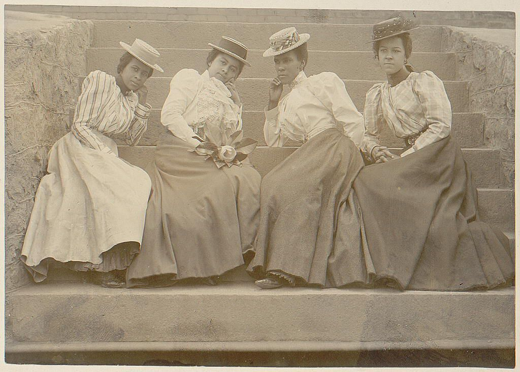 Four African American women at Atlanta University, Georgia. Thomas E. Askew/African American Photographs Assembled for 1900 Paris Exposition/ Library of Congress.