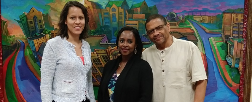 (Left to right) Julia Brookins (AHA), Sinegal-DeCuir (Xavier), and Patrick Goodin (Howard Univ.)